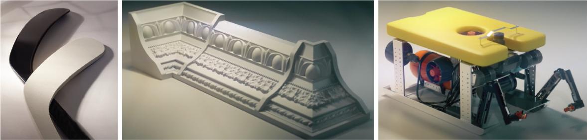 Custom rigid foam parts