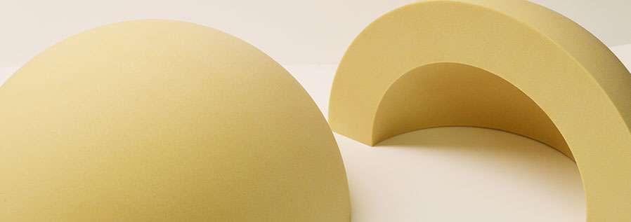 Quarter sphere made from RF-2000 foam