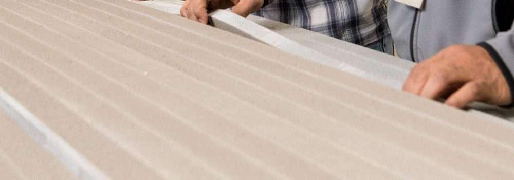 Long strips of flexible foam